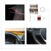 MEWANT Hand Sew Carbon Fiber Leather Car Steering Wheel Cover for BMW F20 2012-2018 F45 2014-2018 F30 F31 F34 2013-2017 F32 F33 F36 2014-2018