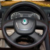 For Skoda Octavia 2012 Superb Fabia 2012 Octavia a5 2012 2013 Yeti 2009-2013, Custom Leather Suede Protector Steering Wheel Cover