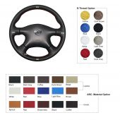 For Nissan Pathfinder 2003-2004 Almera N16  Primera Paladin 2004-2013 X-Trail 2001-2006 Renault Samsung SM3 2005 Infiniti M45 2003-2004,  Leather Sew Wrap Steering Wheel Cover