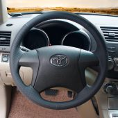 For Toyota Highlander 2008-2014 Camry 2007-2011, Leather Suede  Wrapped Steering Wheel Cover