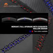 MEWANT Black Artificial PU Leather Hollow Design Car Steering Wheel Cover for Nissan Qashqai X-Trail Leaf Juke Micra Serena 2017 2018-2020 Altima