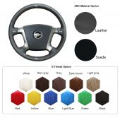 For Chevrolet Epica 2006 2007 2008 2009 2010 2011, Custom Genuine Leather Hand Sew Wrap Steering Wheel Cover