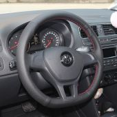 For Volkswagen VW Golf 7 Mk7 New Polo 2014  2015 2016 2017, Custom Hand Sew Protector Steering Wheel Cover