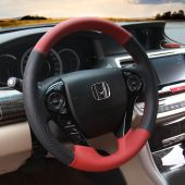 For Honda Accord 9 2013-2017 Crosstour 2013 2014 2015, Custom Leather Suede Cover Steering Wheel Protector