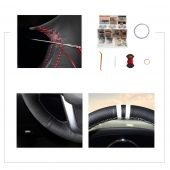 For Kia K2 Kia Rio 2011 2012 2013, Customize Leather Suede Stitched Steering Wheel Cover Wrap