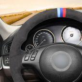 MEWANT Hand Stitch Dark Grey Alcantara Material Car Steering Wheel Cover for BMW M Sport E46 330i 330Ci / E39 540i 525i 530i / M3 E46 / M5 E39