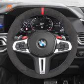 MEWANT Hand Sewing High Quality Dark Grey Alcantara Car Steering Wheel Cover for BMW M3 G80 M4 G82 G83 M5 F90 M8 F91 F92 F93 3 M F97 X4 M F98 X5 M F95 X6 M F96