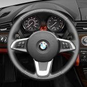 MEWANT Customize Design Hand Stitch Carbon Fiber Black Artificial Leather Car Steering Wheel Cover Wrap  for BMW Z4 E89 2009 2010 2011 2012 2013 2014 2015-2016