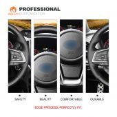 MEWANT Hand Stitch Carbon Fiber Leather Car Steering Wheel cover for Subaru Forester 2019 /  Ascent 2019 /  Crosstrek 2018 2019 /  Impreza 2017 2018 2019 /  Legacy 2018 2019 2020 /  Outback 2018 2019 2020