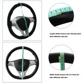 13, 14, 15, 16 , 17, 18 Inch Cheap Price Universal Suede Leather Soft Skin Hand Stitch Car Protector Steering Wheel Cover