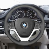Eiseng DIY Sew Customized Steering Wheel Cover for BMW F25 X3 F26 F15 X5 F16 X6 Black Microfiber Leather Interior Accessories