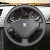 For Peugeot 207 2006 2007 2008 2009 2010 2011 2012 2013 2014,MEWANT Custom Hand Sewing Leather Steering Wheel Cover Wrap Skin