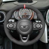 MEWANT Hand Stitch Black PU Leather Real Genuine Leather Suede Car Steering Wheel Cover forMini(Hatchback/Mini)JCW2014-2020/ClubmanJCW2015-2020/ConvertibleJCW2016-2020/CountrymanJCW2017-2020