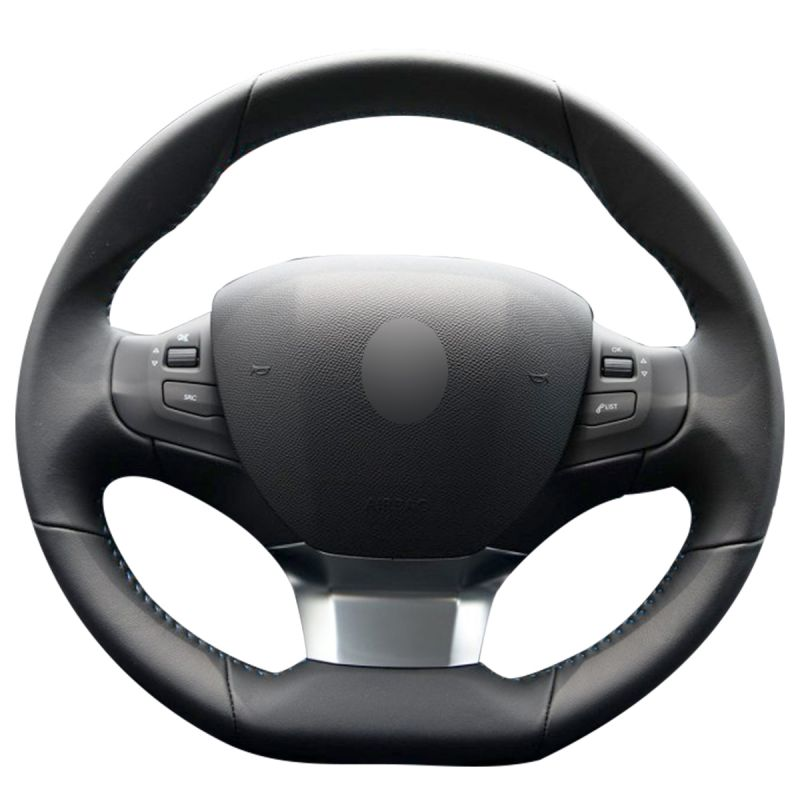 Steering Wheel Cover Genuine Black Leather Soft Grip Driving Aid For Vauxhall
