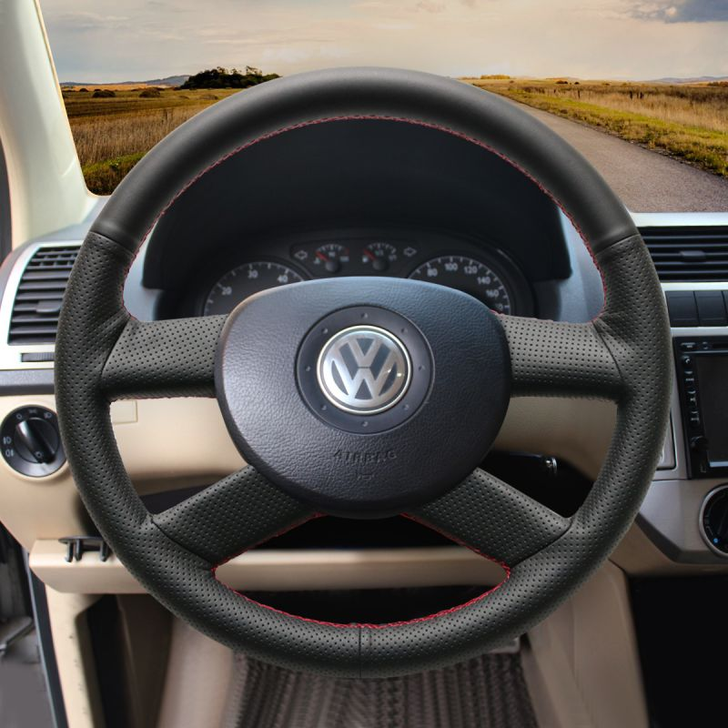 Custom Leather Volkswagen Vw Polo 2003 2004 2005 2006 Steering